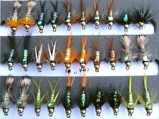 Trout fishing flies, UK, Gold Headed, Nymph, Buzzer, flies, special FLASH BACKS