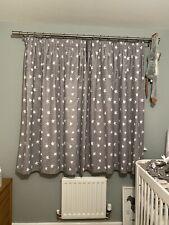 Next Grey Curtains With White Stars Blackout Curtains Nursery/ Children