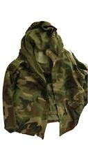 US Army Woodland Camo Gore-Tex BDU Uniform Parka - Size Large Reg