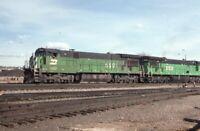 BURLINGTON NORTHERN Railroad Locomotive BN 5591 DENVER CO Original Photo Slide