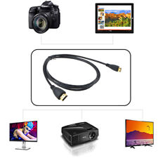 PwrON Mini HDMI A/V TV Video Cable for Panasonic Lumix DMC-TZ7 DMC-FZ45 Camera