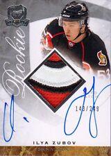 08-09 The Cup JERSEY AUTO ROOKIE xx/249 Made! Ilya ZUBOV #124 - Senators
