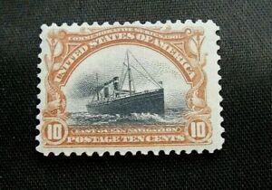 US Scott #299 10 cent stamp Mint, OG, H VF