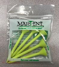 """MARTINI Golf Tees - 1 pack of 5 YELLOW ORIGINAL tees 3 1/4"""""""