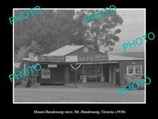 OLD LARGE HISTORIC PHOTO OF MOUNT DANDENONG VICTORIA, THE GENERAL STORE c1920