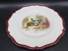 ANTIQUE 1898 ROYAL WORCESTER ENGLISH PORCELAIN  VITREOUS HAND PAINTED PLATE