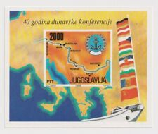Yugoslavia -40th Anniversary of the Danube Conference 1988 Minisheet & stamp MNH