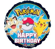 "Pokemon Pikachu & Friends Balloon 17"" Foil Happy Birthday Party Decorations"