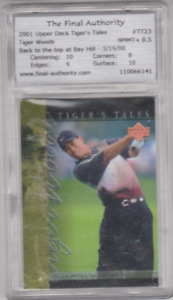 2001 - Upper Deck - Tiger's Tales - #TT23 - Tiger Woods - GRADED!!!