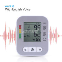Upper Arm Blood Pressure Monitor LCD Heart Rate Tester Talking/Voice Function
