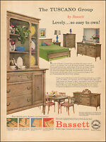 1957 Vintage ad for Bassett`Furniture retro Styles Photo Bedroom (050117)