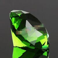 30mm Green Crystal Diamond Shape Paperweight Gem Display Ornament