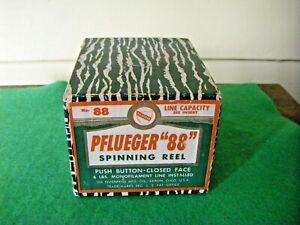 "Vintage Pflueger ""88"" Spinning Reel in Original Box with Manual"