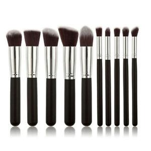 GLAMZA 10PCS Professional Makeup Brush Set Kit Blush Eyebrow Foundation Face