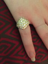 Cubic Zirconia Ring Vintage 14k Solid Gold