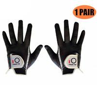 Golf Gloves Large 1 Pair Men's Rain Grip Hot Wet Weather Black Value Finger Ten