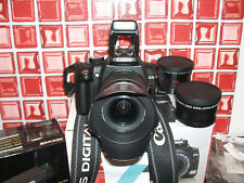 Canon EOS 350D / Digital  8.0 MP Digital SLR Camera - BLACK WITH THREE LENSES