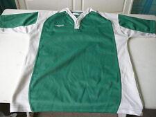 maillot de rugby vintage Protouch vert et blanc XL