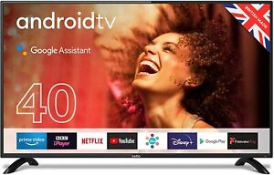 """Cello C4020G 40"""" Smart Android TV Freeview Play 3 x HDMI USB Google Black 2020"""