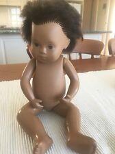 VINTAGE BABY SASHA  DOLL DARK HAIR nice condition