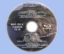 BD Blu-ray Disc, Mac OS X 10.15 Catalina Full OS Install, Recovery and Upgrade