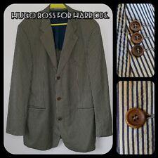 "Vintage Hugo Boss For Harrods Striped Travel Blazer 42"" Chest relaxed fit VGC"