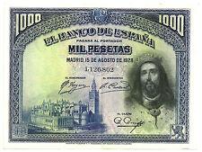 BILLETE DE 1000 PESETAS DE 1928 (EBC) SAN FERNANDO (SIN SERIE)