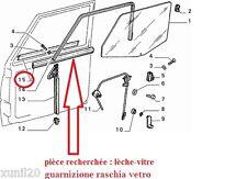 Fiat Panda GUARNIZIONI SPORTELLO DESTRO RASCHIA Right Glass trims 1986 -> 2003