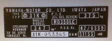 YAMAHA RD350LC YPVS 31K HEADSTOCK FRAME DECAL RESTORATION DECAL
