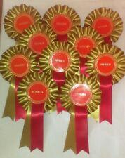 10 x  winner rosettes for trophy awards