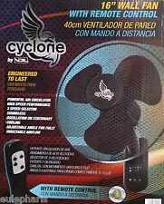 "VENTILADOR de PARED CYCLONE con Mando a Distancia 16"" 40cm ,3 VELOCIDADES, GROW"