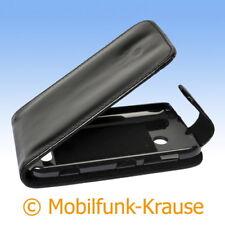 Flip Case Etui Handytasche Tasche Hülle f. Nokia Lumia 510 (Schwarz)