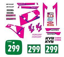 YAMAHA YZ 250 1991-1992 Decal Graphic/kit déco/autocollants MX RACING
