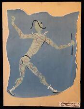 Jean Cocteau lithographie originale l'arlequin