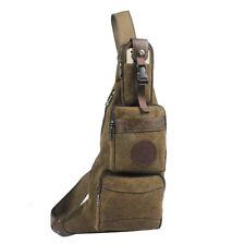 New Men Canvas Travel Hiking Riding Messenger Shoulder Sling Back Pack Chest Bag