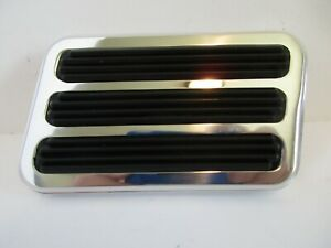 POLISHED BILLET ALUMINUM BRAKE PEDAL PAD RECTANGLE CHEVY FORD HOT ROD  #8500POL