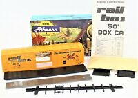 Athearn HO Scale Railbox 50' Ft. Sliding Door Box Car Train Kit 5521 New