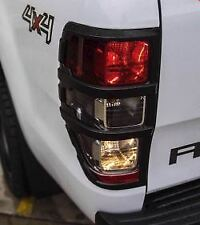 2015-2018 FORD RANGER TAIL LIGHT COVER SET MATTE BLACK WILDTRAK XLT PX2 NEW