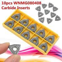 10PCS 16mm×16mm Black WNMG080408 CNC Carbide Inserts Blades Lathe Turning Tool