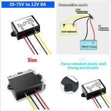 Vehicle Car Automatic Voltage Up and Voltage Down 20-75V to 12V 8A DC Converter