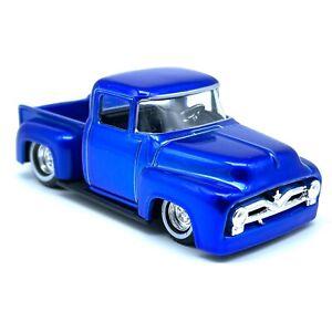 Hot Wheels Custom Classics 1956 '56 Ford F-100 Step Side Pickup Truck Blue 1/50