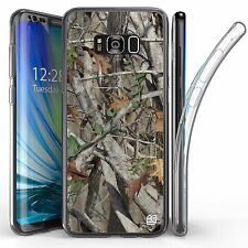 For Samsung Galaxy S8 Plus,Tri Max Transparent Full Body Case Cover Hunter Camo