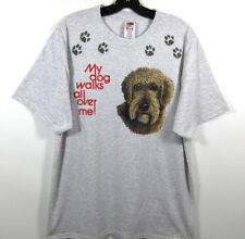 New My Dog Walks All Over Me Wheaten Terrier Or Golden Doodle T Shirt Mens Xl