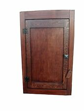 Handmade Mission Arts/Crafts Rustic Wood Wall Cabinet