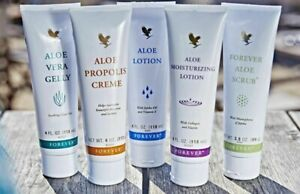 *New Forever Living Aloe Vera Tubes (Gelly Moist. Lotion Propolis Scrub,Lips)*