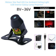 Meteor Star Red LED Durable Car Ambient Ceiling Light USB Galaxy Lamp Projector