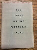 1929 All Quiet on the Western Front 1st US Edition 1st Printing Erich Remarque