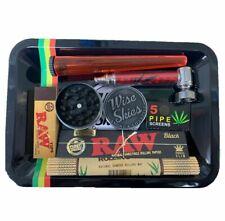 Smoking Rolling Tray Set Grinder Tube Pipe Raw Tips Raw Black Rolling Papers UK