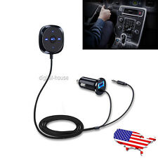 Wireless Bluetooth Car kit 3.5mm AUX MP3 Player Handsfree Speaker Charger