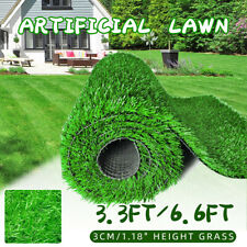 Artificial Turf Lawn Synthetic Grass Indoor Outdoor Landscape Golf 3CM Height
